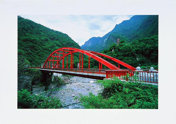 台湾风景明信片 单张对摺万用卡片(含信封每张$30) 花莲太鲁阁天祥稚